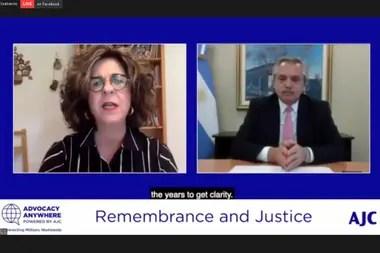Alberto Fernández participó de reuniones virtuales con las entidades judías