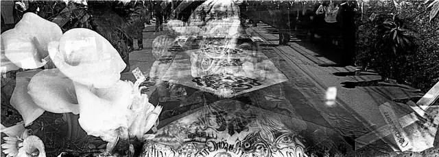 Una de las fotografías que integran la muestra Palipsestos en el Centro Cultural de la Memoria Haroldo Conti