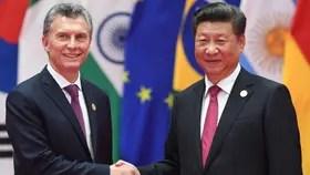 Mauricio Macri y su par chino, Xi Jinping