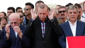 Erdogan habló en los funerales