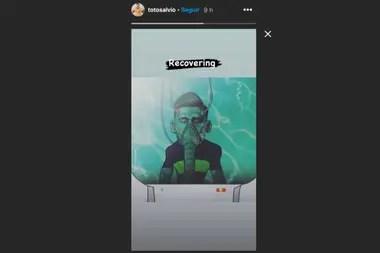 Toto Salvio publicó esta imagen en sus historias de Instagram