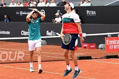 Granollers y el marplatense Zeballos, una pareja con mucha química dentro del court de tenis.