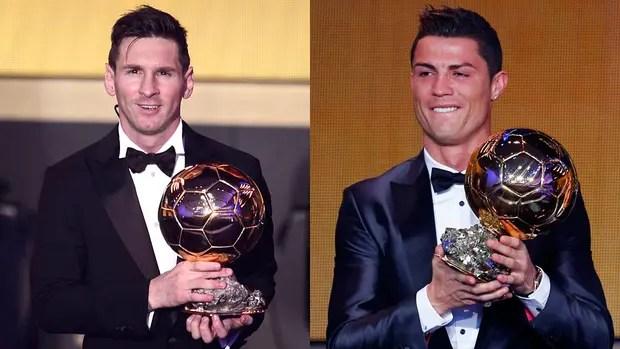 Messi y Cristiano Ronaldo monopolizaron el Balón de Oro