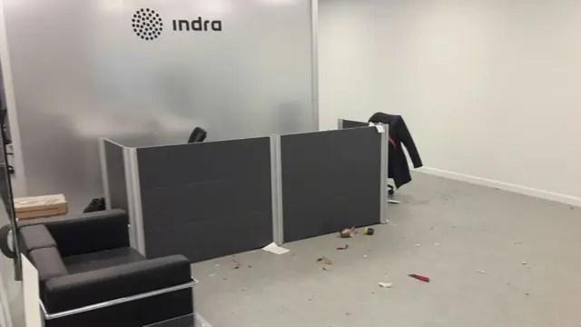 El lugar donde exploto el sobre en Indra