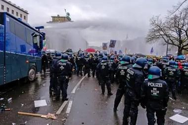 Protestas contra las restricciones en Alemania