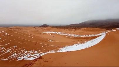 Nevó en el desierto del Sahara por tercera vez en casi 40 años