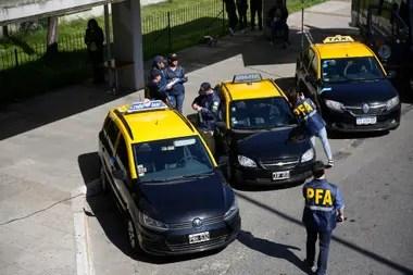 Uno de los operativos para detectar taxistas que preparaban ataques contra choferes de Uber