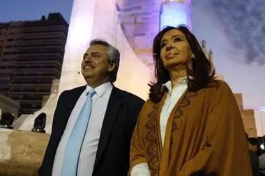 Cristina Kirchner junto a Alberto Fernández
