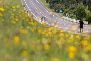 Los corredores también se animan a lugares más alejados y recorren la ruta camino a José Ignacio