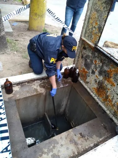 Una de las estaciones de servicio que comercializaba el combustible obtenido mediante el robo de crudo del oleoducto de YPF