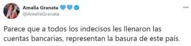 El mensaje de Granata contra los diputados indecisos