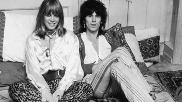 Anita Pallemberg y Keith Richards fueron pareja durante 12 años y tuvieron tres hijos