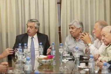 Alberto Fernández y Hugo Moyano