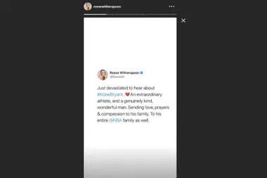 Reese Witherspoon y sus palabras para la familia de Kobe
