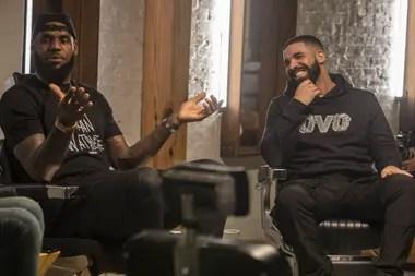 Lebron James junto a Drake en The Shop