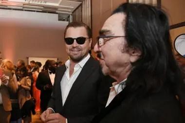 Leonardo DiCaprio, nominado como Mejor actor por Había una vez...en Hollywood, junto a su padre, George DiCaprio
