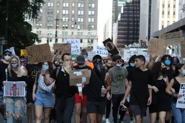Thousands of young people have taken to the streets of New York for two weeks in protests for racial justice