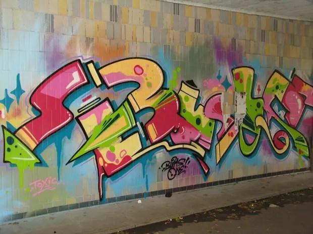 Una de las obras catalogadas por el KIT alemán para el banco digital que prepara sobre grafitis