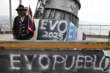 Un simpatizante de Evo en El Alto