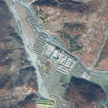 El centro de detención de Onsong está ubicado en el extremo norte de Corea del Norte Crédito: BBC