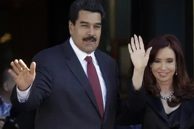 Nicolás Maduro y Cristina Kirchner, en 2013