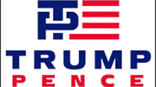 El logo de Trump y su vice
