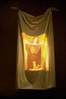 Video-Verónica. Retroproyección sobre tela. 2000/2003. Gentileza Fundación Osde