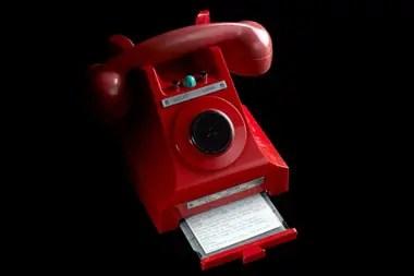 Un teléfono para conversación segura entre el presidente Kennedy y el primer ministro Harold Macmillan durante la crisis de misiles de 1962