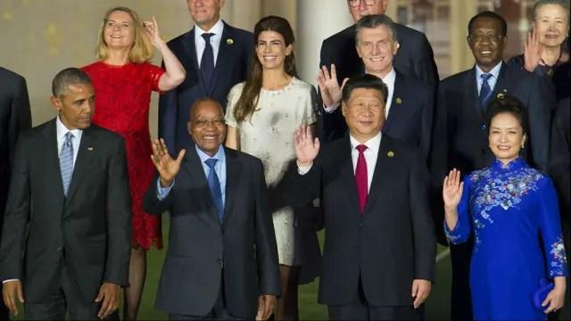 Obama, cerca de Juliana Awada y Macri en la Cumbre del G20