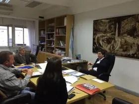 Ruralistas con el subsecretario de Reucrsos Hídricos, Pablo Bereciartua