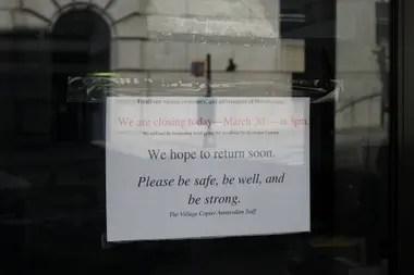 El mensaje de un comerciante a sus clientes, en Morningside Heights