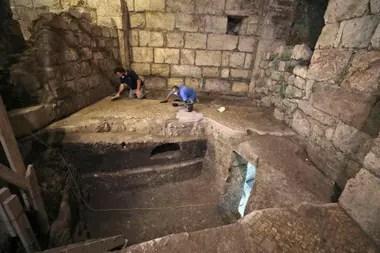 El complejo subterráneo se encontraba debajo de los restos de un edificio del imperio bizantino del año 1400