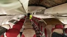 Hay un mercado floreciente para asientos de avión de segunda mano, como estos.