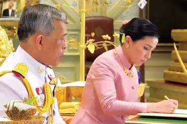 Suthida and Rama X were married one day before the prince of Thailand became king