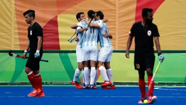 El festejo argentino ante Canadá