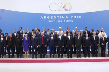 Foto de familia de la Cumbre de Líderes del G20 en Buenos Aires
