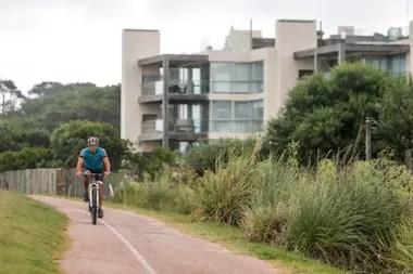 También aumentó la cantidad de ciclistas en las playas esteñas
