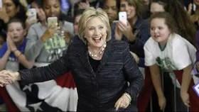 Hillary, en plena campaña