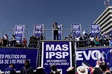 El presidente de Bolivia habló ante miles de partidarios del oficialista Movimiento al Socialismo