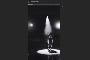 Ariana Grande y su homenaje a Kobe Bryant