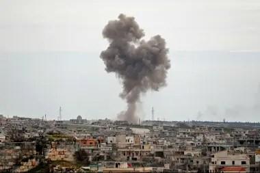 Imagen del ataque en Maarrat Misrin, en el norte de Siria