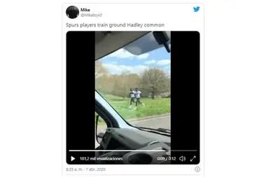 Mourinho rompió la cuarentena en Londres y tuvo que pedirles disculpas a las autoridades. Captura de twitter.