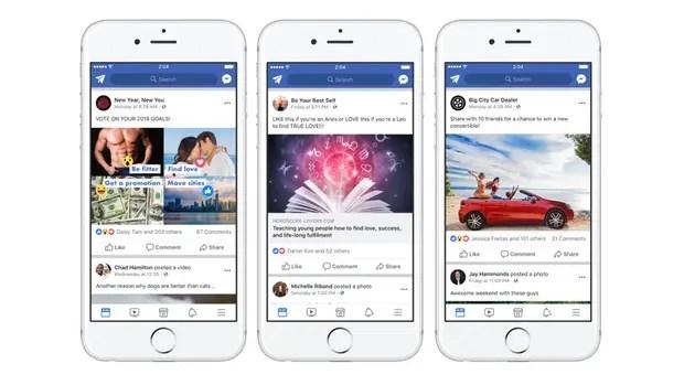 Facebook busca reducir las publicaciones que solicitan me gusta o compartir un post, ya que consideran una práctica abusiva y similar al spam
