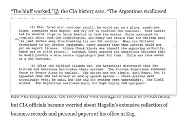 Revelan que la CIA espiaba las comunicaciones de 120 países, incluida la Argentina durante la guerra de Malvinas