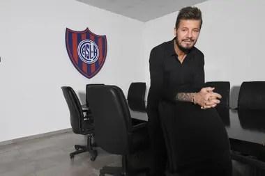 Marcelo Tinelli, presidente de San Lorenzo y titular de la Liga Profesional