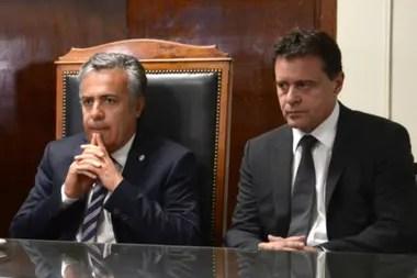 Alfredo Cornejo y el juez Omar Palermo