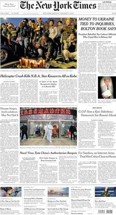La tapa del New York Times