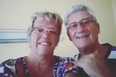 Chantal y Michel Barret recibieron el alta del hospital Samic, de El Calafate