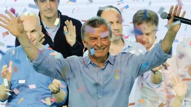 Resultado de imagen para macri ganador legislativas 2017