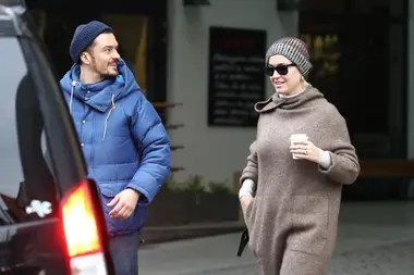 Two days before Valentine's day, Katy Perry and Orlando Bloom were out to dinner in Prague